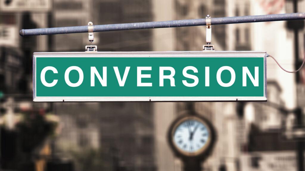 """Strassenschild mit dem Namen """"Conversion"""""""
