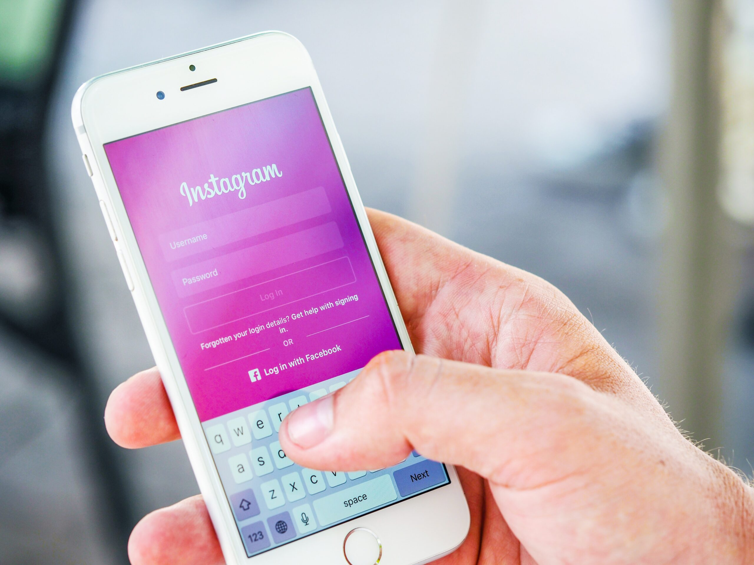Instagram Anmeldung auf Smartphone