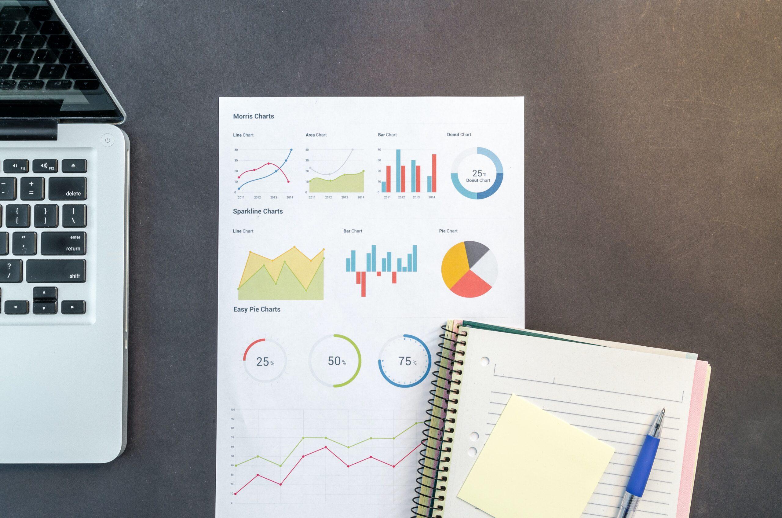 Blätter mit Statistiken