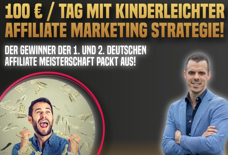 Affiliate Marketing kann so einfach sein